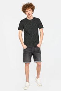 WE Fashion T-shirt met all over print zwart/wit, Zwart/wit