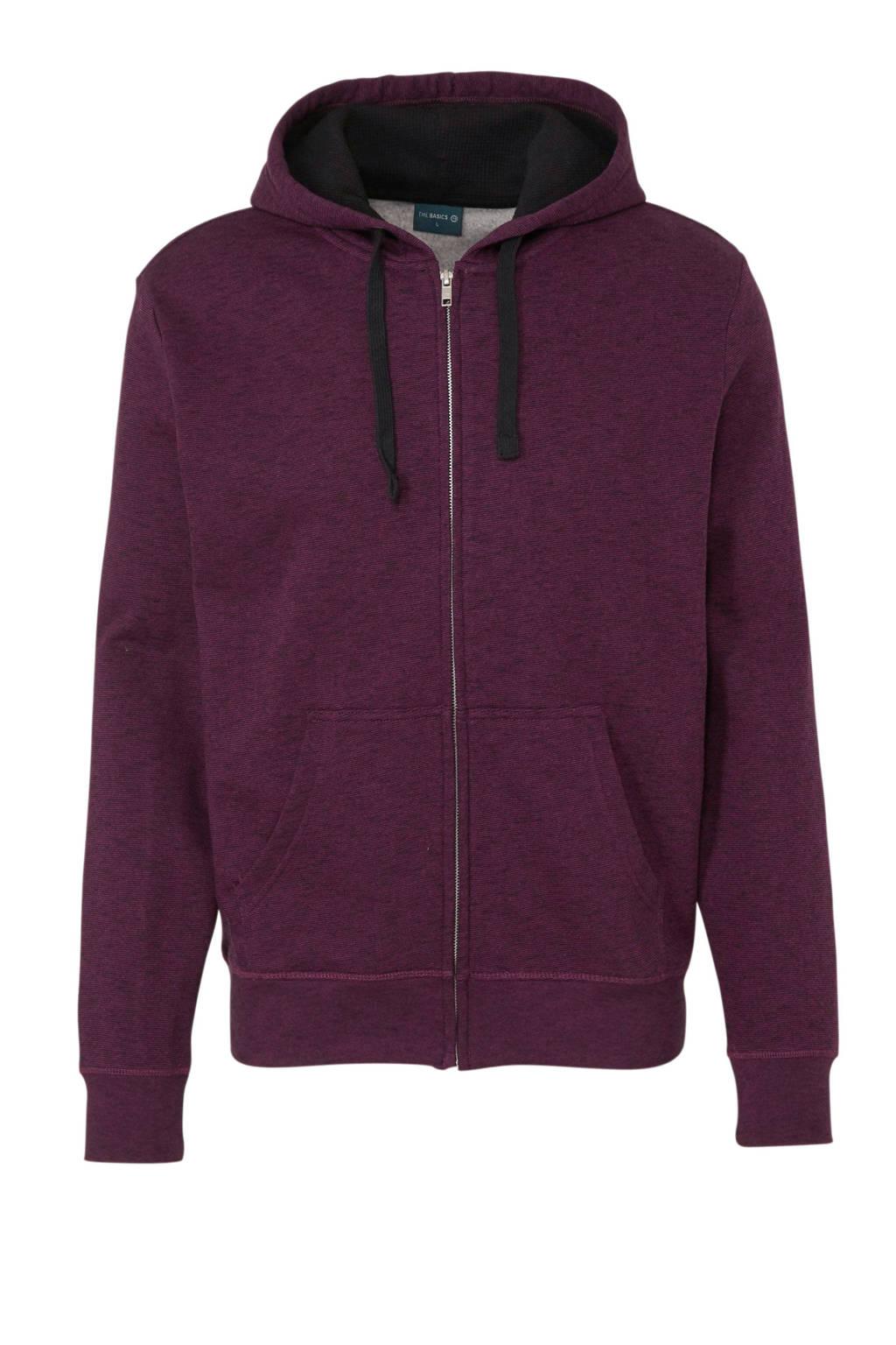 C&A Angelo Litrico gemêleerde hoodie donkerrood, Donkerrood