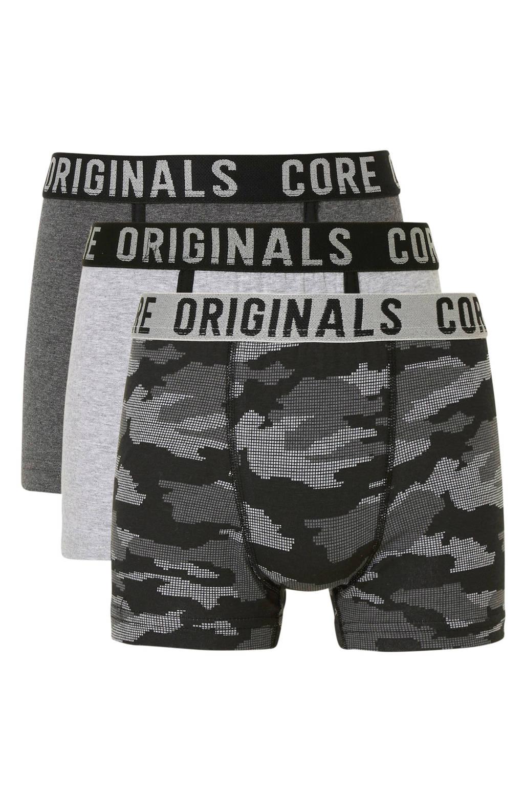 C&A Here & There   boxershorts grijs/zwart - set van 3, Grijs/zwart
