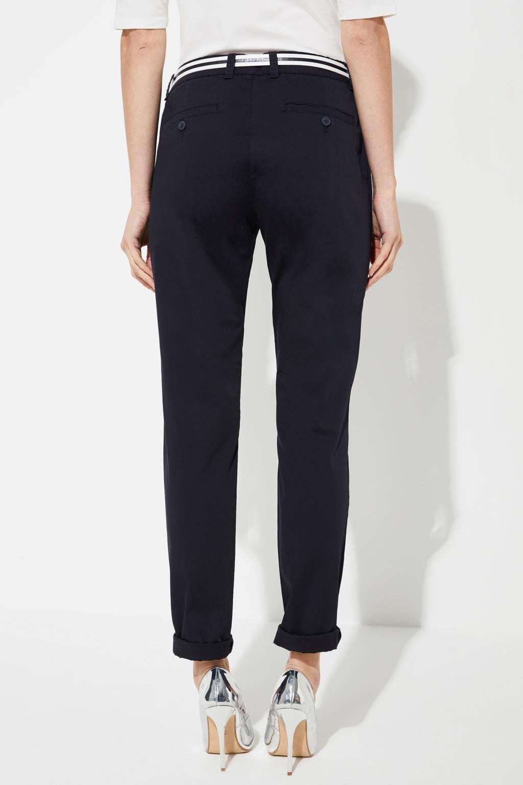 comma slim fit broek donkerblauw, Donkerblauw