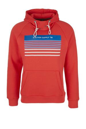 hoodie met printopdruk rood