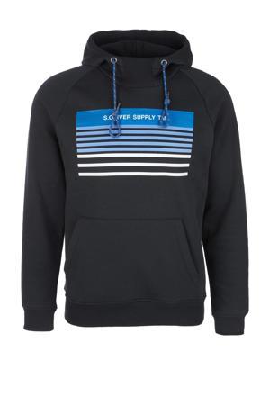 hoodie met printopdruk marine