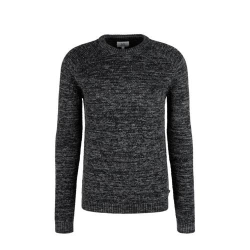 Q/S designed by gem??leerde trui zwart