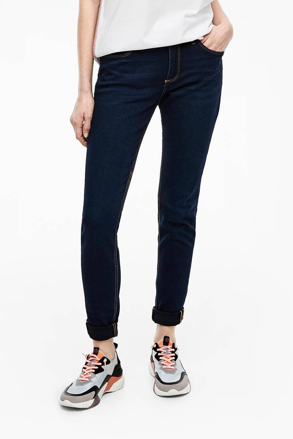Q/S designed by skinny jeans donkerblauw, Donkerblauw