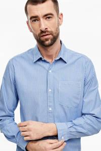 s.Oliver slim fit overhemd blauw, Blauw