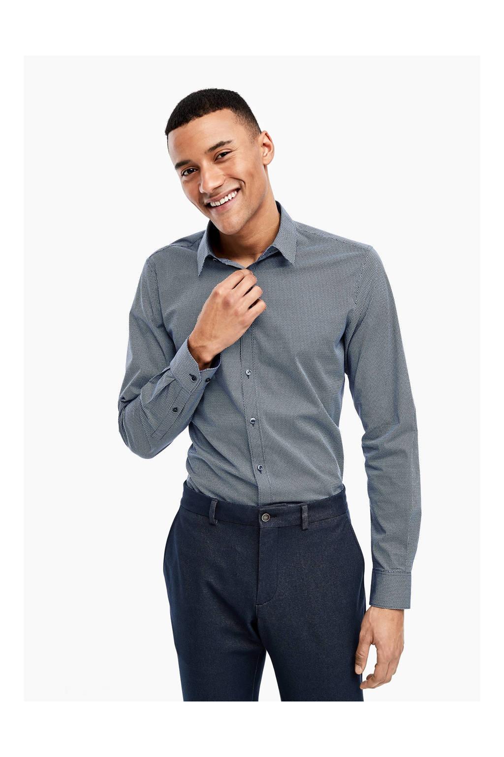 s.Oliver BLACK LABEL slim fit overhemd lichtblauw, Lichtblauw