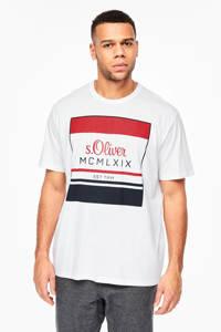 s.Oliver Big Size T-shirt met printopdruk wit Big size, Wit