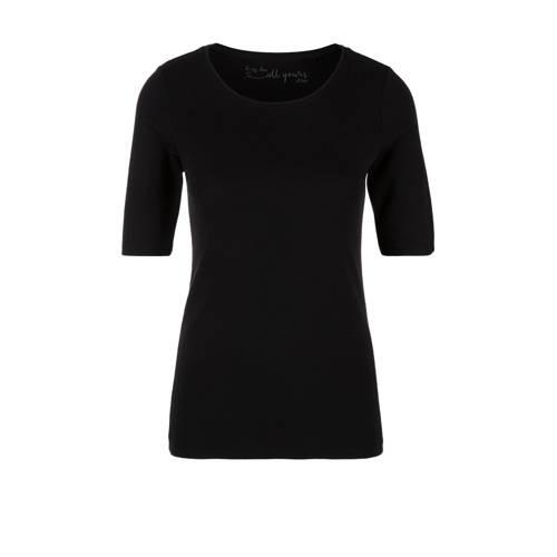s.Oliver T-shirt zwart