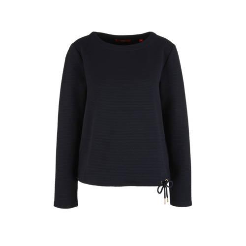 s.Oliver sweater met textuur donkerblauw