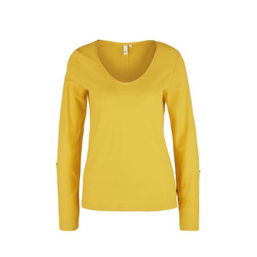 Q/S designed by gestreept T-shirt geel