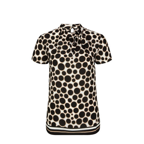 s.Oliver BLACK LABEL blouse met stippen zwart