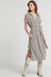 Saint Tropez jurk Blanca whisper cheetah, Ecru/multi