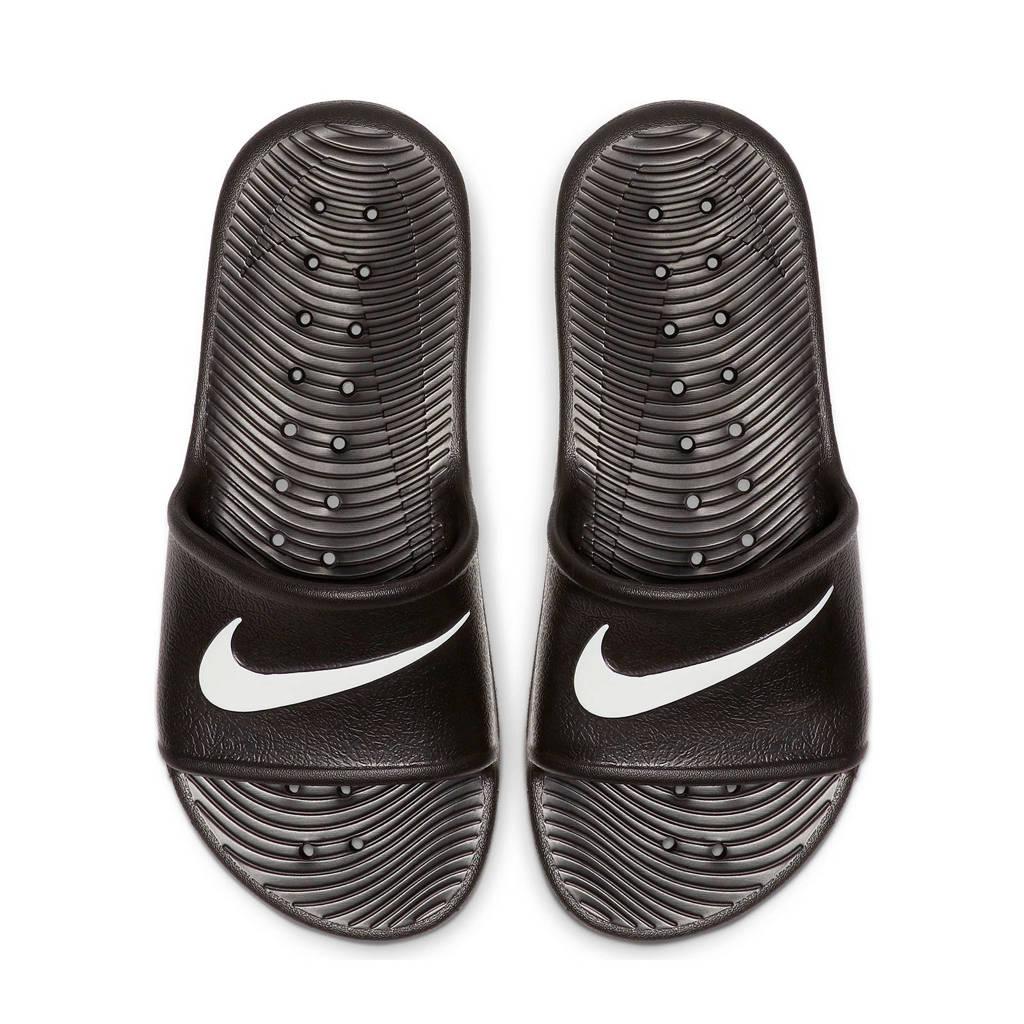 Nike Kawa Shower (GS/PS) badslippers zwart/wit, Zwart/wit