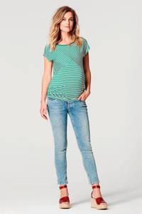 Noppies zwangerschapstop Abbey groen/wit, Groen/wit