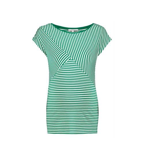 Noppies zwangerschapstop Abbey groen/wit