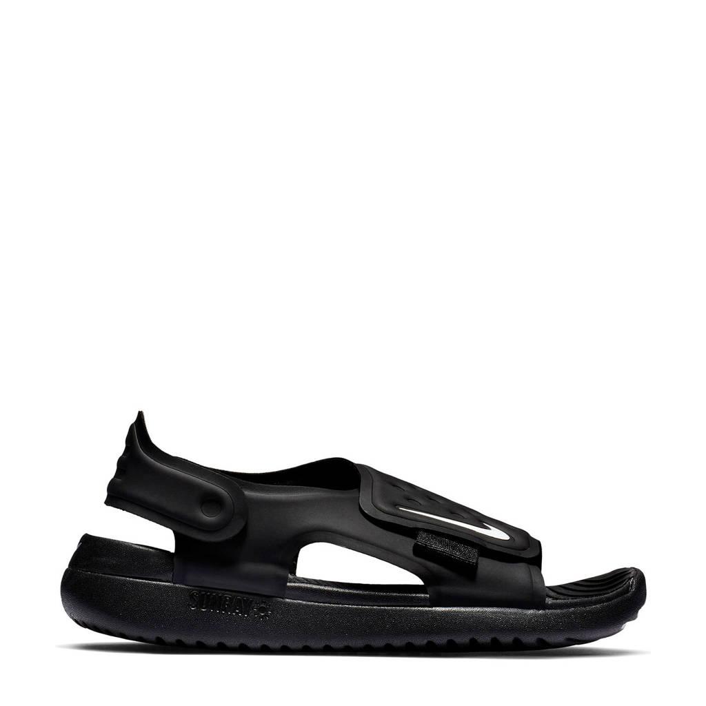 Nike Sunray Adjust 5 (GS/PS) waterschoenen zwart kids, Zwart