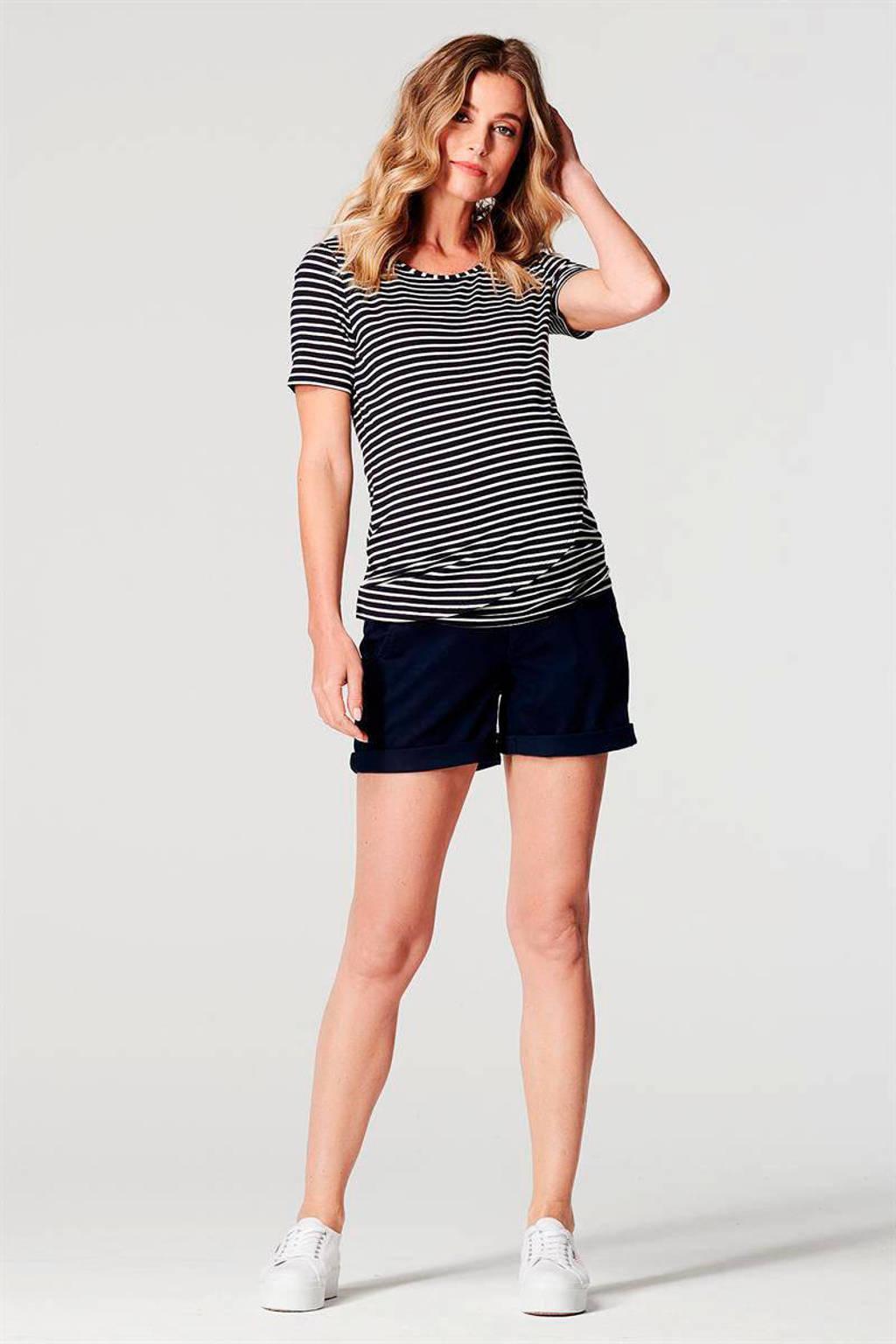 Noppies low waist regular fit short Brooke donkerblauw, Donkerblauw