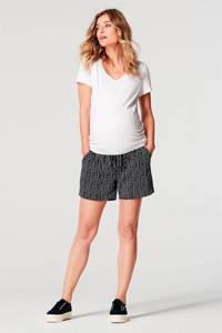 Noppies gestreepte low waist regular fit short Celine donkerblauw/wit, Donkerblauw/wit