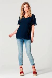 Noppies semi-transparante zwangerschapstop Candice donkerblauw, Donkerblauw