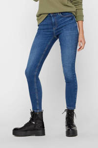 PIECES skinny jeans PCDELLY medium blue denim, Blauw