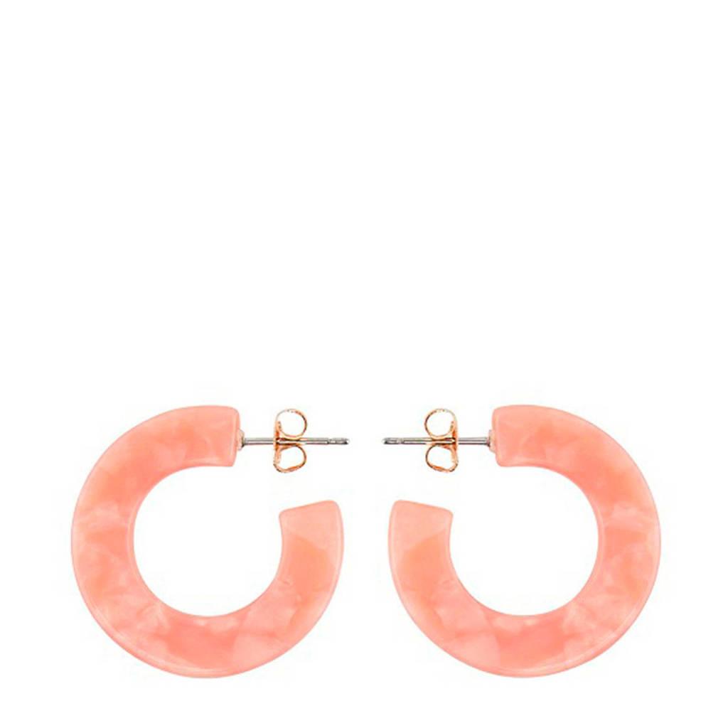PIECES oorbellen roze, Paars