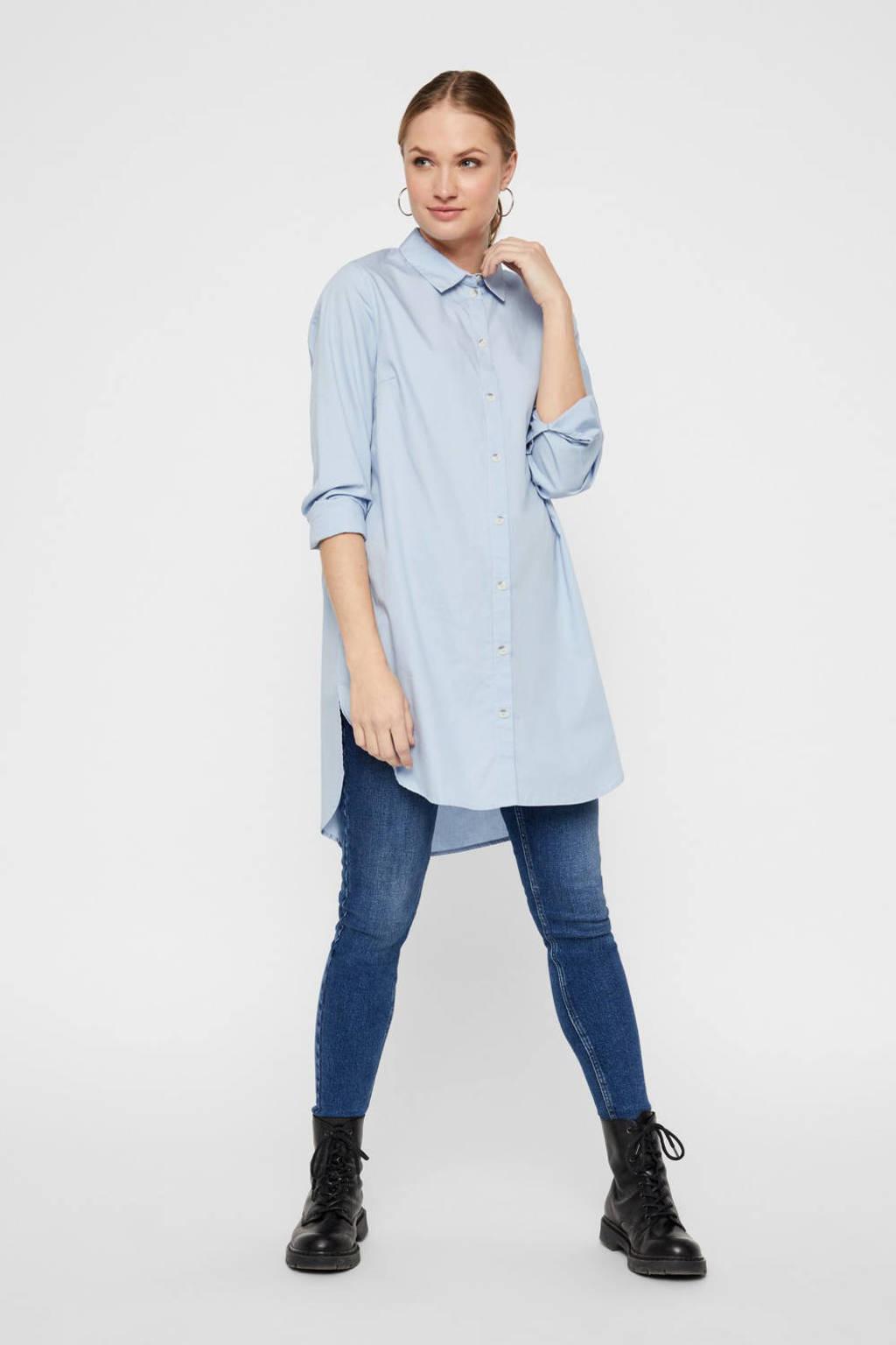 PIECES blouse blauw, Blauw