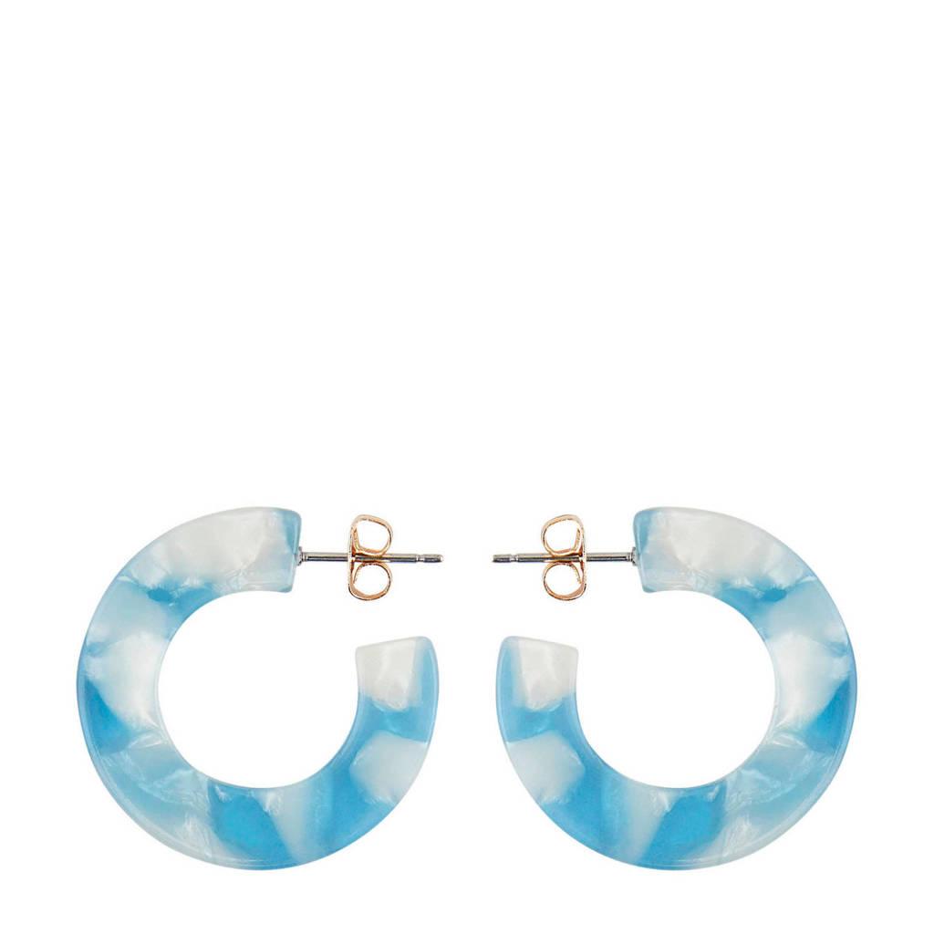 PIECES oorbellen blauw, Blauw