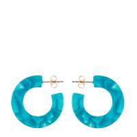 PIECES oorbellen blauw, Groen