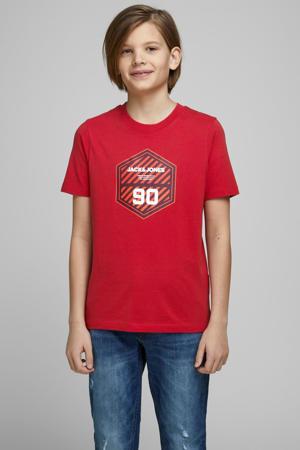 T-shirt Friday met logo rood/oranje/wit