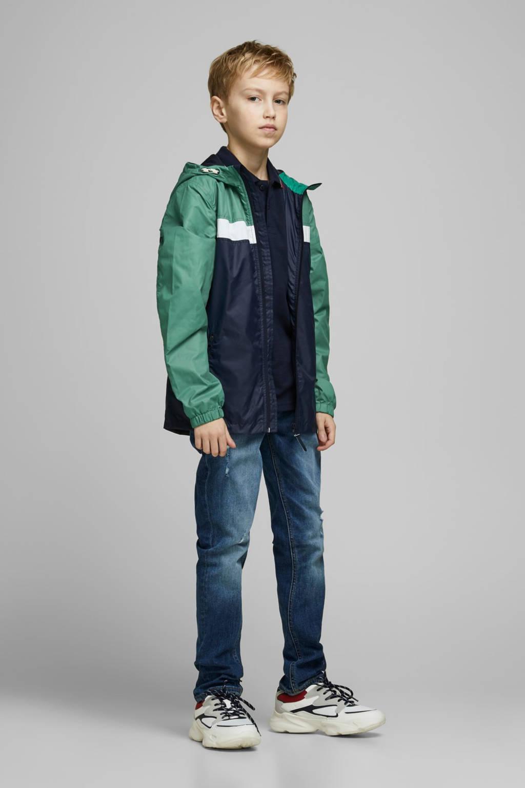 JACK & JONES JUNIOR zomerjas Cott donkerblauw/groen, Donkerblauw/groen