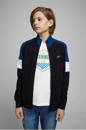 T-shirt Friday met logo wit/blauw/geel