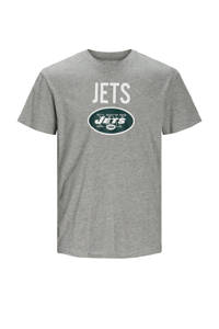 JACK & JONES JUNIOR T-shirt Superen met tekst grijs melange/wit, Grijs melange/wit