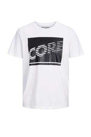 T-shirt Idea met logo wit/zwart