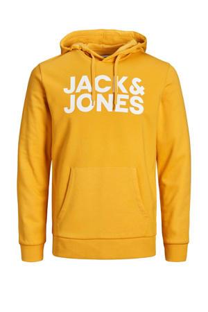hoodie Corp met logo geel/wit