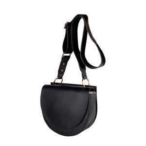 leren crossbody tas Luna zwart