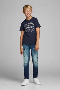 JACK & JONES JUNIOR T-shirt Jeans met printopdruk donkerblauw, Donkerblauw