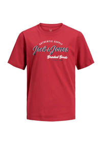 JACK & JONES JUNIOR T-shirt Logo met logo rood, Rood