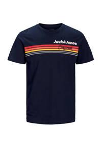 JACK & JONES JUNIOR T-shirt Venture met logo donkerblauw, Donkerblauw