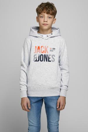 hoodie Foke met logo wit