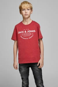 JACK & JONES JUNIOR T-shirt Jeans met printopdruk rood, Rood
