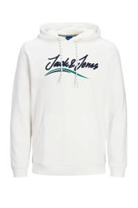JACK & JONES JUNIOR hoodie Flexx met logo wit, Wit