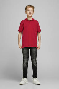 JACK & JONES JUNIOR polo Basic met borduursels rood, Rood