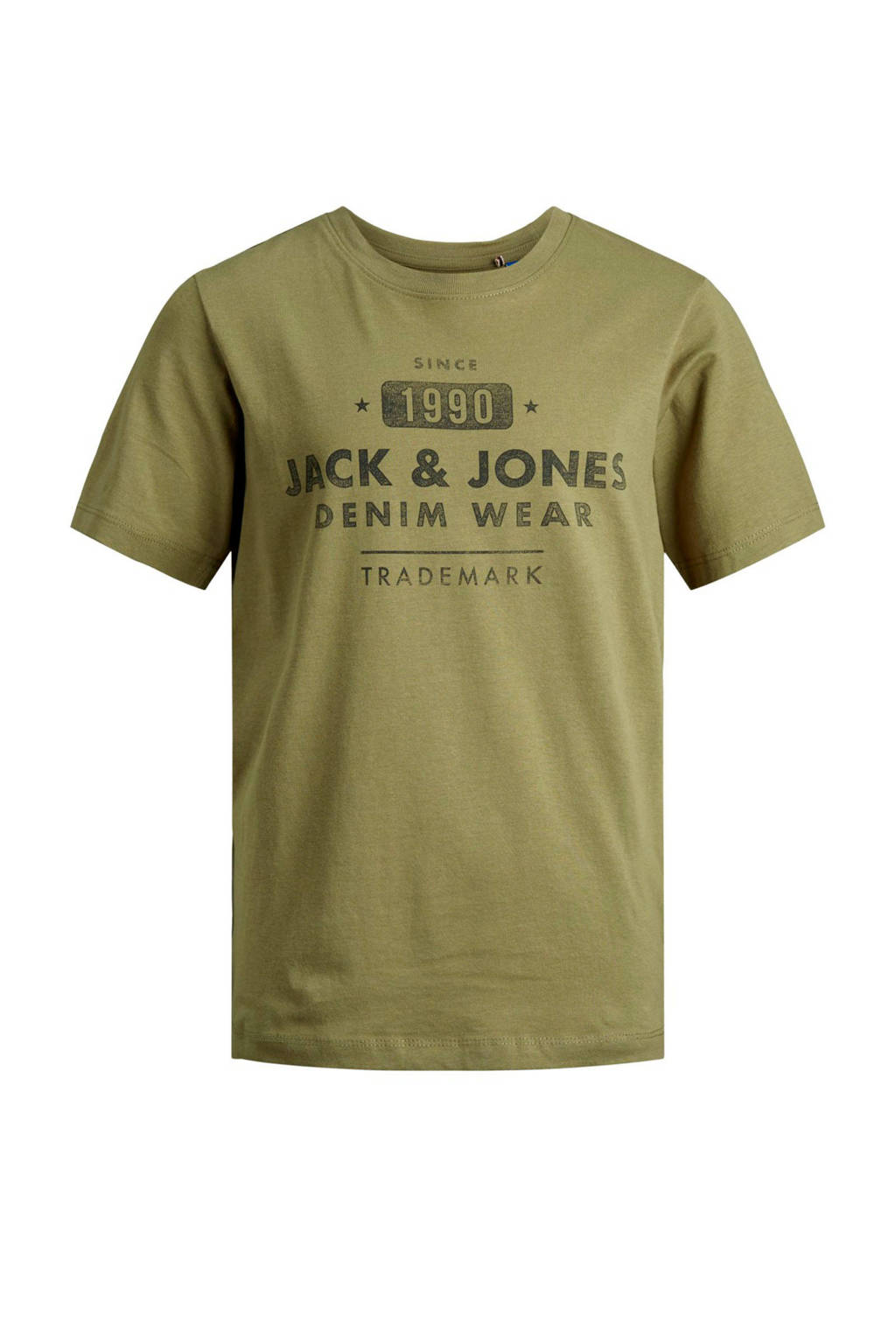 JACK & JONES JUNIOR T-shirt Jeans met printopdruk donkergroen, Donkergroen