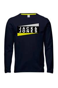 JACK & JONES JUNIOR longsleeve Shaun met logo wit, Wit