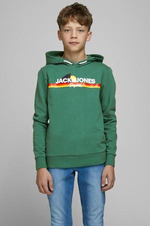 hoodie Venture met logo groen
