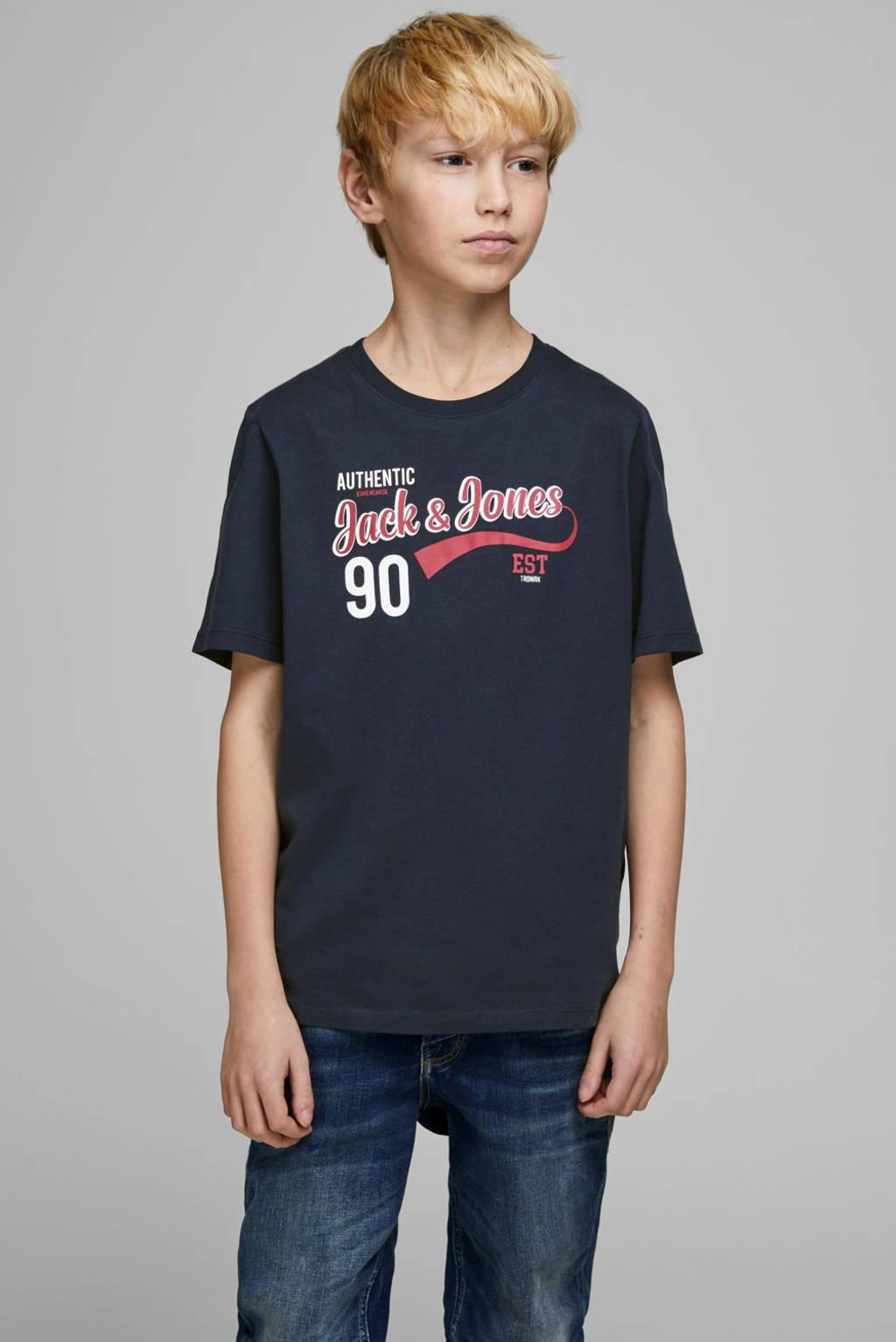 JACK & JONES JUNIOR T-shirt Logo met logo donkerblauw, Donkerblauw