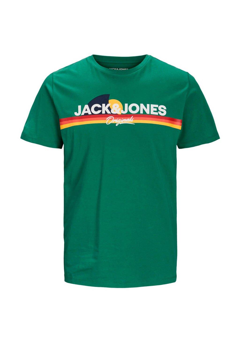 JACK & JONES JUNIOR T-shirt Venture met logo groen/multi, Groen/multi