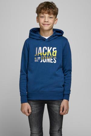 hoodie Foke met logo navy peony