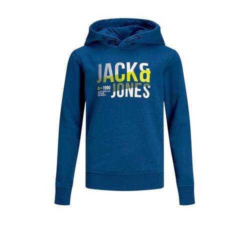 JACK & JONES JUNIOR hoodie Foke met logo navy