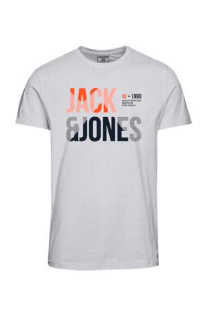 T-shirt Foke met logo wit